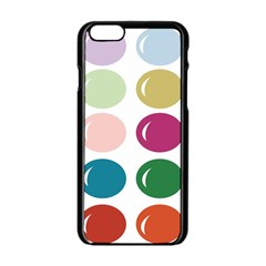 Brights Pastels Bubble Balloon Color Rainbow Apple Iphone 6/6s Black Enamel Case by Mariart