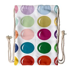 Brights Pastels Bubble Balloon Color Rainbow Drawstring Bag (large) by Mariart
