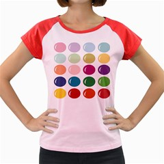 Brights Pastels Bubble Balloon Color Rainbow Women s Cap Sleeve T Shirt by Mariart