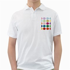 Brights Pastels Bubble Balloon Color Rainbow Golf Shirts by Mariart
