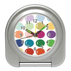 Brights Pastels Bubble Balloon Color Rainbow Travel Alarm Clocks