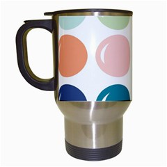Brights Pastels Bubble Balloon Color Rainbow Travel Mugs (white) by Mariart