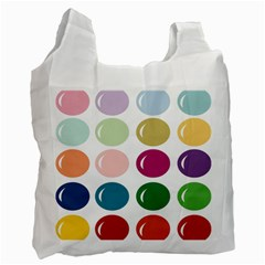 Brights Pastels Bubble Balloon Color Rainbow Recycle Bag (two Side)  by Mariart