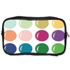 Brights Pastels Bubble Balloon Color Rainbow Toiletries Bags