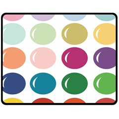 Brights Pastels Bubble Balloon Color Rainbow Fleece Blanket (medium)  by Mariart