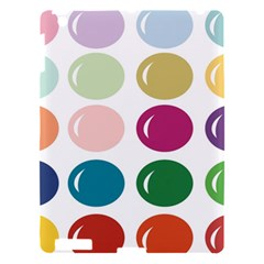 Brights Pastels Bubble Balloon Color Rainbow Apple Ipad 3/4 Hardshell Case by Mariart