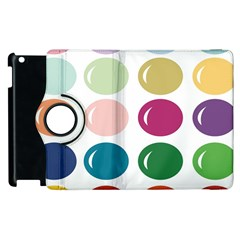 Brights Pastels Bubble Balloon Color Rainbow Apple Ipad 3/4 Flip 360 Case by Mariart