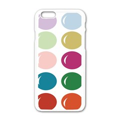 Brights Pastels Bubble Balloon Color Rainbow Apple Iphone 6/6s White Enamel Case by Mariart