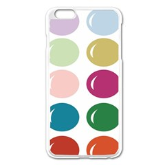 Brights Pastels Bubble Balloon Color Rainbow Apple Iphone 6 Plus/6s Plus Enamel White Case by Mariart