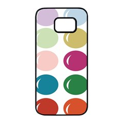 Brights Pastels Bubble Balloon Color Rainbow Samsung Galaxy S7 Edge Black Seamless Case by Mariart