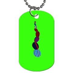 Egg Line Rainbow Green Dog Tag (two Sides) by Mariart