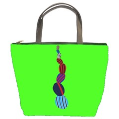 Egg Line Rainbow Green Bucket Bags by Mariart