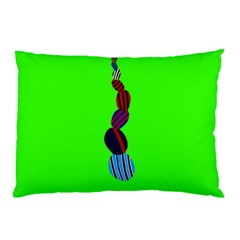 Egg Line Rainbow Green Pillow Case by Mariart
