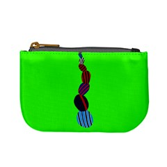 Egg Line Rainbow Green Mini Coin Purses by Mariart