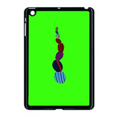 Egg Line Rainbow Green Apple Ipad Mini Case (black) by Mariart