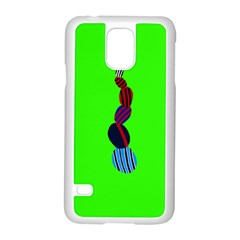 Egg Line Rainbow Green Samsung Galaxy S5 Case (white) by Mariart