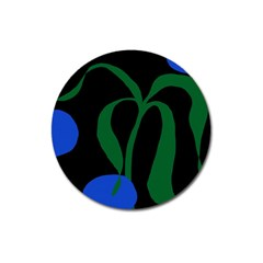 Flower Green Blue Polka Dots Magnet 3  (round) by Mariart