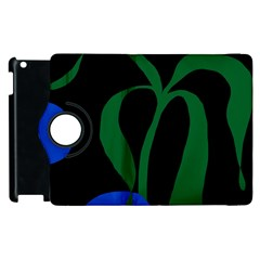 Flower Green Blue Polka Dots Apple Ipad 3/4 Flip 360 Case by Mariart