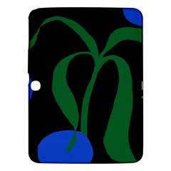 Flower Green Blue Polka Dots Samsung Galaxy Tab 3 (10 1 ) P5200 Hardshell Case  by Mariart