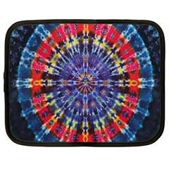 Circle Purple Green Tie Dye Kaleidoscope Opaque Color Netbook Case (large) by Mariart