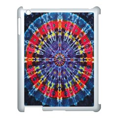 Circle Purple Green Tie Dye Kaleidoscope Opaque Color Apple Ipad 3/4 Case (white) by Mariart
