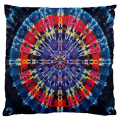 Circle Purple Green Tie Dye Kaleidoscope Opaque Color Large Flano Cushion Case (two Sides) by Mariart