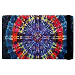 Circle Purple Green Tie Dye Kaleidoscope Opaque Color Apple Ipad Pro 9 7   Flip Case by Mariart