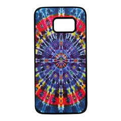 Circle Purple Green Tie Dye Kaleidoscope Opaque Color Samsung Galaxy S7 Black Seamless Case by Mariart
