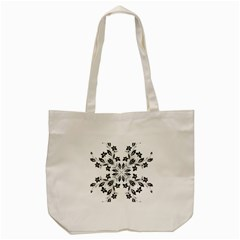 Floral Element Black White Tote Bag (cream) by Mariart