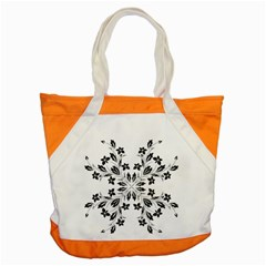 Floral Element Black White Accent Tote Bag