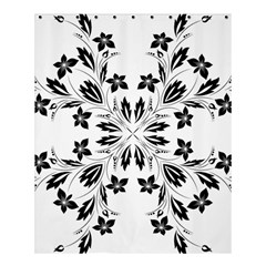 Floral Element Black White Shower Curtain 60  X 72  (medium)  by Mariart