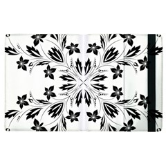 Floral Element Black White Apple Ipad 2 Flip Case by Mariart