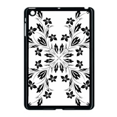 Floral Element Black White Apple Ipad Mini Case (black) by Mariart