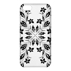 Floral Element Black White Apple Iphone 5c Hardshell Case by Mariart