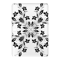 Floral Element Black White Samsung Galaxy Tab Pro 12 2 Hardshell Case