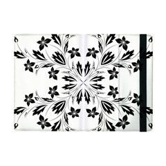 Floral Element Black White Ipad Mini 2 Flip Cases by Mariart
