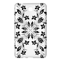 Floral Element Black White Samsung Galaxy Tab 4 (8 ) Hardshell Case  by Mariart