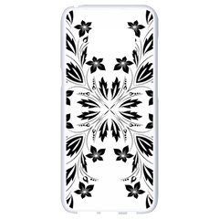 Floral Element Black White Samsung Galaxy S8 White Seamless Case by Mariart