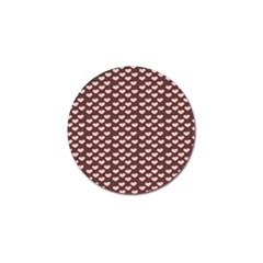 Chocolate Pink Hearts Gift Wrap Golf Ball Marker by Mariart