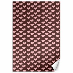 Chocolate Pink Hearts Gift Wrap Canvas 20  X 30