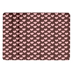 Chocolate Pink Hearts Gift Wrap Samsung Galaxy Tab 10 1  P7500 Flip Case by Mariart
