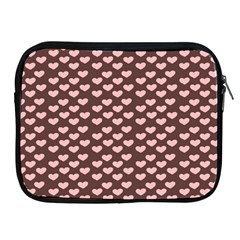 Chocolate Pink Hearts Gift Wrap Apple Ipad 2/3/4 Zipper Cases by Mariart