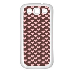 Chocolate Pink Hearts Gift Wrap Samsung Galaxy S3 Back Case (white) by Mariart
