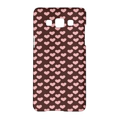 Chocolate Pink Hearts Gift Wrap Samsung Galaxy A5 Hardshell Case  by Mariart