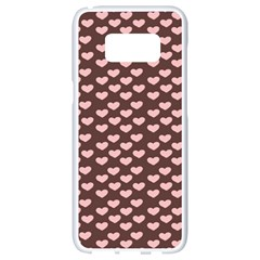 Chocolate Pink Hearts Gift Wrap Samsung Galaxy S8 White Seamless Case by Mariart
