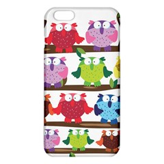 Funny Owls Sitting On A Branch Pattern Postcard Rainbow Iphone 6 Plus/6s Plus Tpu Case by Mariart
