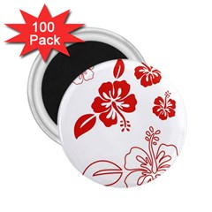 Hawaiian Flower Red Sunflower 2 25  Magnets (100 Pack)  by Mariart