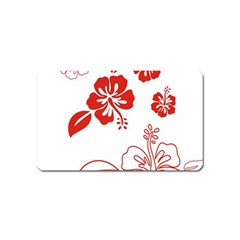 Hawaiian Flower Red Sunflower Magnet (name Card) by Mariart