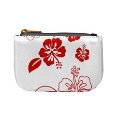 Hawaiian Flower Red Sunflower Mini Coin Purses by Mariart