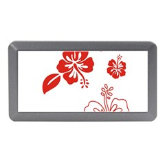 Hawaiian Flower Red Sunflower Memory Card Reader (mini) by Mariart